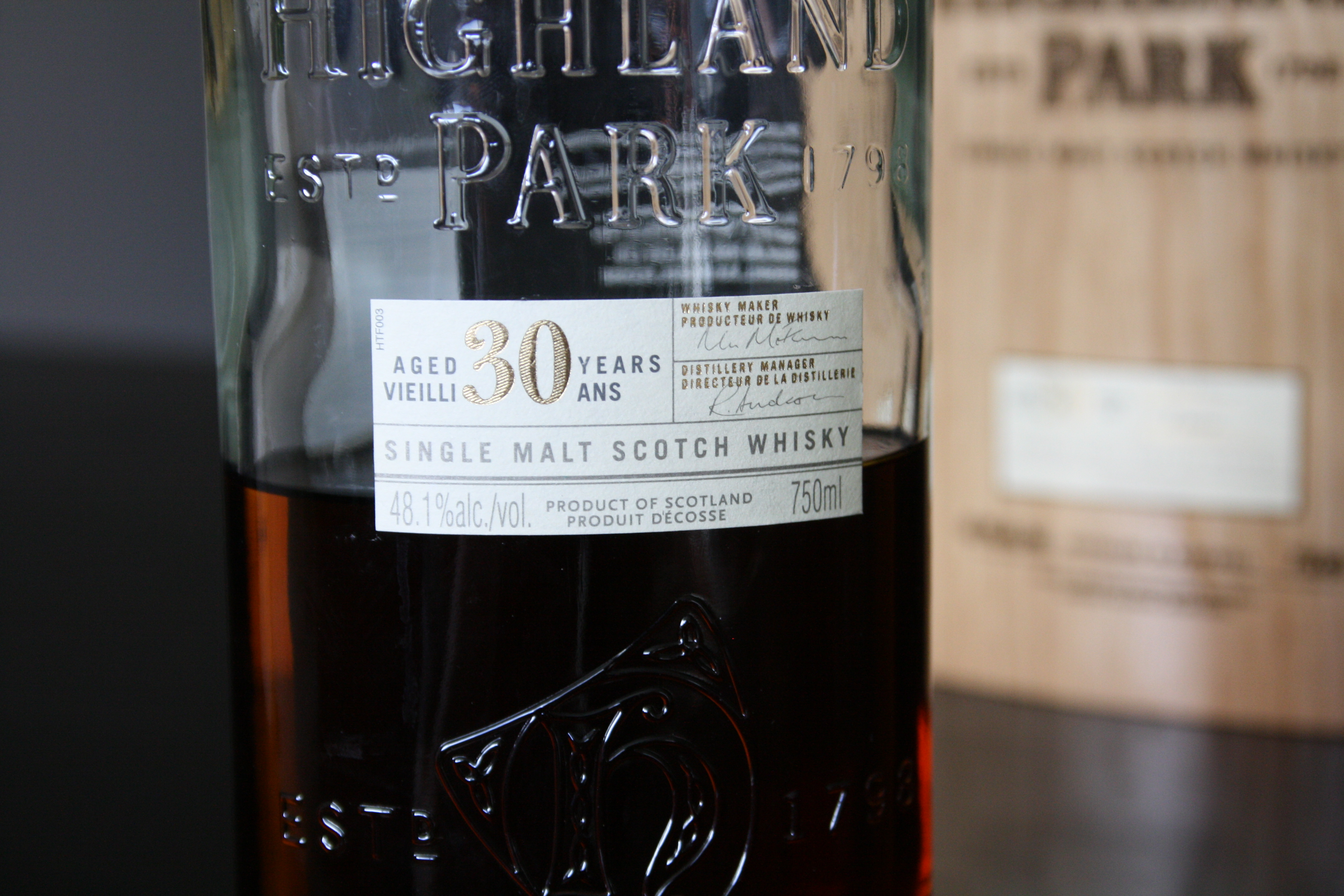 f9a11fbed75 Highland Park 30 Year Old Delivery
